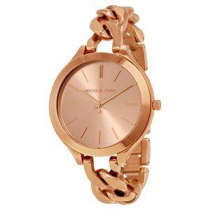 Michael Kors Slim Runway Twist Rose Gold Watch